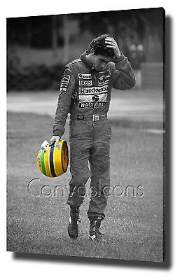 Ayrton Senna Canvas Print Poster Photo Formula 1 Wall Art Decor Helmet Original