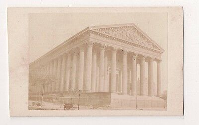 Vintage CDV La Madeleine, Paris Church of the Madeleine Rare !! Photo