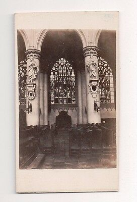 Vintage CDV Chapel in Cathedral of St. Michael and St. Gudula Brussles Belgium