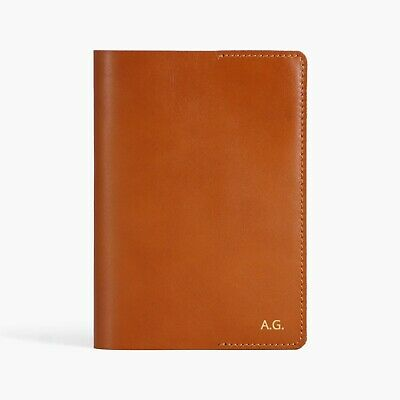 Personalised Genuine Leather A5 Notebook Cover Replaceable Journal Cover