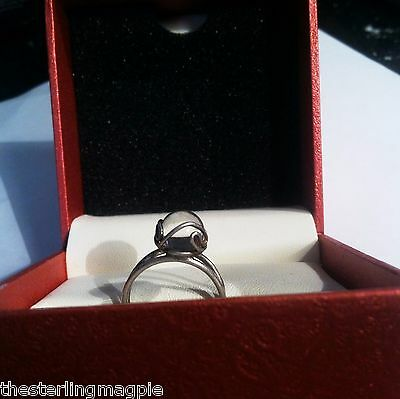 Vintage Sterling Silver Pools Of Light Ring 925 Size 6 Beautiful Rock Crystal
