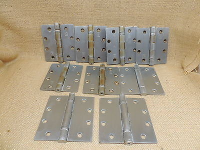 Mixed Lot of 9 Hinges  6 Hager 3 Unknown  SOME TARNISHED