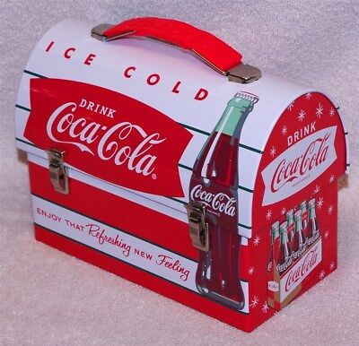 "Coca-Cola ""enjoy That Refreshing New Feeling"" Workmans Carry-All Lunch Box, New"