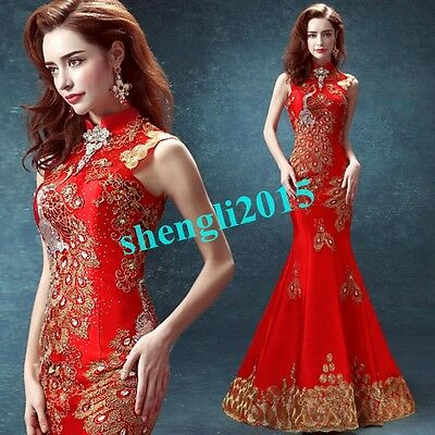 Wedding Bridesmaid Dress Mermaid Cocktail Evening Formal Party Prom Gown dress##