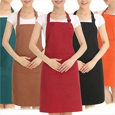 Plain Apron Cooking Kitchen Chef Baking Butchers Craft BBQ Catering Waiter Long