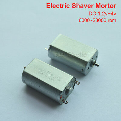 DC 1.2v - 4v 2.4v Mini DC Motor short shaft axial 2mm shaft for electric shaver