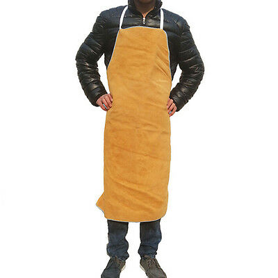 """Heat insulation protection Safety Welding Leather Work Bib Apron 28"""" Wx 39"""" L"""