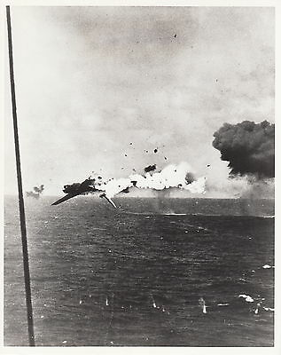 Japanese Torpedo Bomber Explodes ~ Official Us Navy Photo -1943