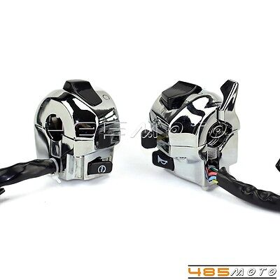 """Motorcycle 12v DC  7/8"""" Motorcycle Handlebar Control Function Light Switch New"""