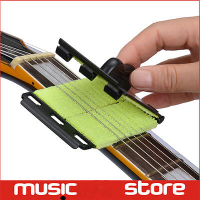 Top 1Pc Guitars String Scrubber Bass Strings Fingerboard Cleaner for Instruments