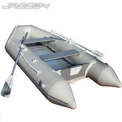 Inflatable Dinghy Boat Aluminium Floor & Paddles 320 x 150 Foot Pump Family Size