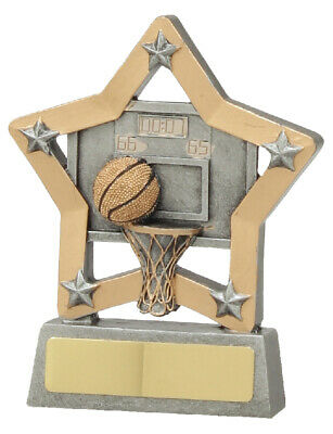 Basketball Star Trophy 13cm Engraved FREE