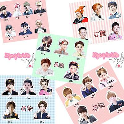 KPOP Bangtan Boys BTS Bigbang GD EXO LUHAN SEHUN Luggage Laptop Sticker Decals