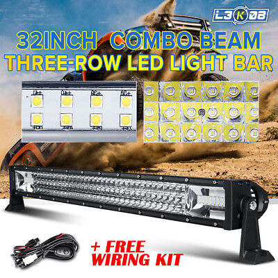 12INCH 168W PHILIPS LED Work Light Bar Flood Spot Combo Offroad ATV 4WD PICKUP