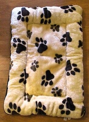 New Easipet Deluxe Pet Bed/cushion Mat Cream With Paw Print