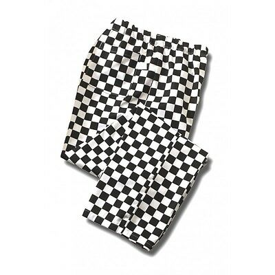 Chefs Trousers, Elasticated Pants Chessboard Print Checked Bottoms Cooks, Ins14B