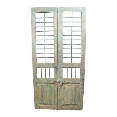 Reclaimed Antique Architectural Salvage Door w/ Wrought Iron #7