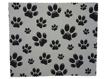 "Premium Microfiber Cute Paw Print Spectacle Glasses Lens Cleaning Cloth 7"" x 6"""