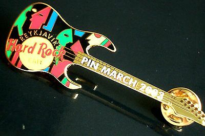 HRC Hard Rock Cafe Reykjavik Pin March 2003 Ibanez Petrucci Guitar LE250