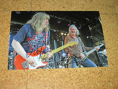 The Sweet ANDY SCOTT & PETE LINCOLN Originalautogramme GROSSFOTO!