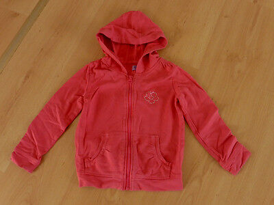 Lovely Red Zipped Hooded Cotton Jacket Hoodie from F&F - Age 3-4 Yrs