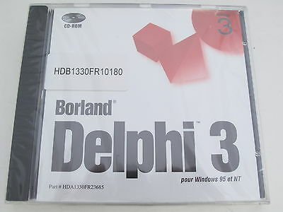 Francais Borland Delphi 3 French Pour Windows 95 et NT BOR 8953 FREE SHIPPING