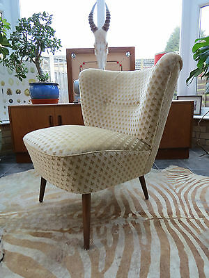 A Vintage East German Bartholomew Cocktail Chair C1965 Good Condition A16/14