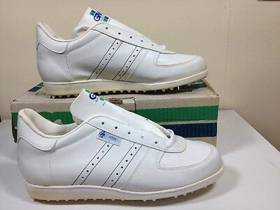 VINTAGE 1980s Gunn & Moore GM Xtra Cricket Shoes Spikes Trainers Uk 8 Eu 42