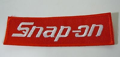 "SNAP-ON Tools Iron On Embroidered Uniform-Jacket Patch 4"" x 1.25"""