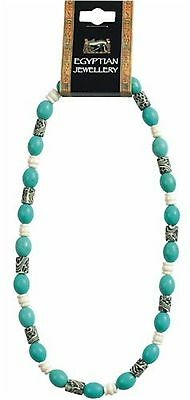 Egyptian Ceramic Bead Necklace inspired by ancient Egyptian jewellery with la...