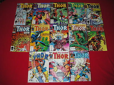 THE MIGHTY THOR (VOL 1)   #337  -  #349  1st BETA RAY BILL WALT SIMONSON  VF+/NM