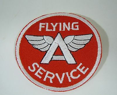 FLYING A SERVICE Embroidered Iron On Uniform-Jacket Patch 2.75""