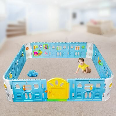 Square Baby Playpen with Door | Interactive Baby Playpen with Gate 2.3m x 2.3m