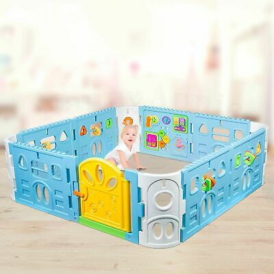 Square Baby Playpen with Door | Interactive Baby Playpen with Gate 1.6m x 1.6m