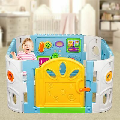 Square Baby Playpen with Door | Interactive Baby Playpen with Gate
