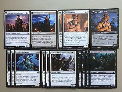MTG White Black Tokens Deck Hanweir Militia Captain Magic Standard SOI
