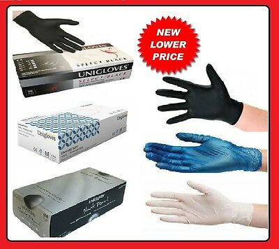 Medical Grade Powder Free Disposable Latex Black Nitrile Clear Blue Vinyl Gloves