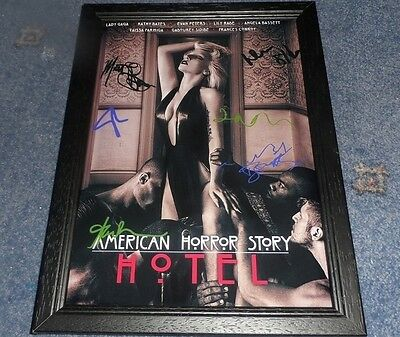 "American Horror Story : Hotel Pp Signed Framed A4 12""x8"" Photo Poster Lady Gaga"