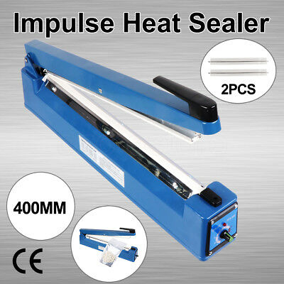 400mm Food Sealing Machine Electric Plastic Poly Bag Hand Impulse Heat Sealer