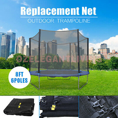 Replacement Outdoor Trampoline Safety Net Enclosure 8ft 10ft 12ft 14ft