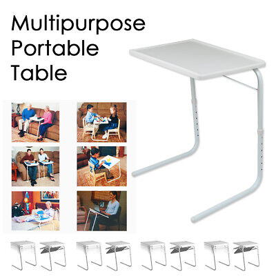 Multipurpose Portable Folding Table Adjustable Tray Laptop Dinner Desk Bed