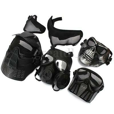 Tactical Face Protection Safety Gear Mask Guard for Paintball Airsoft Game