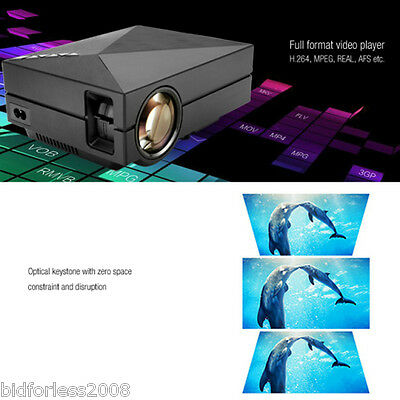 3D Hd 1080P mini led projecteur 1000 lumens multimedia home cinéma usb hdmi vga