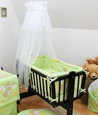 Baby Canopy For Rocking Crib / Cradle / Moses Basket + Holder White