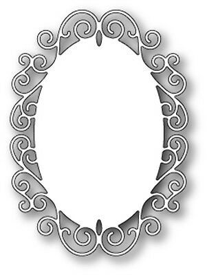 Poppy Stamps - Dies - Claudette Oval Frame