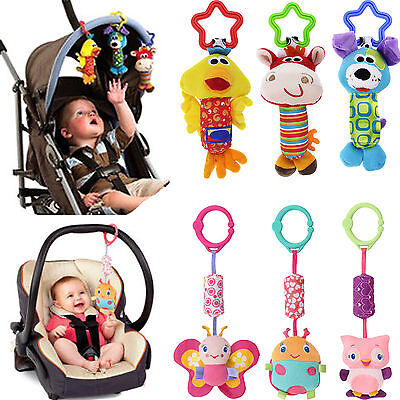 Newly Baby Kids Car Pram Handbell Stroller Hanging Hand Bell Pendant Soft Toy