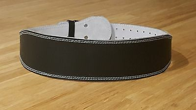 Leather Weight Lifting belt Black