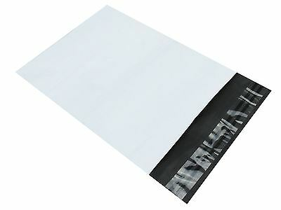 """Strong Large White Plastic Mailing Poly Post Postage Bags Self Seal 14"""" x20"""""""