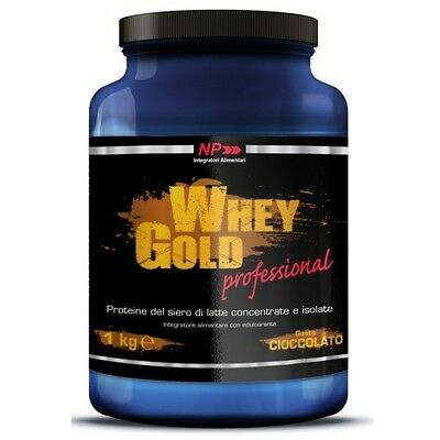 NP Whey Gold Professional, 1000 g Proteine Siero del Latte Concentrate e Isolate
