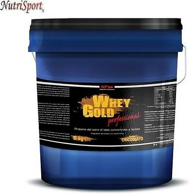 NP Whey Gold Professional, 5000 g Proteine Siero del Latte Concentrate e Isolate